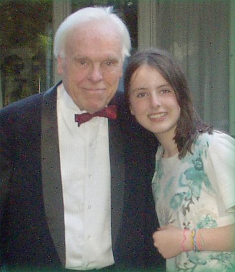 Albert Southwick with his granddaughter Naomi Maria Southwick Schwediauer (Leicester, Massachusetts - 2010)